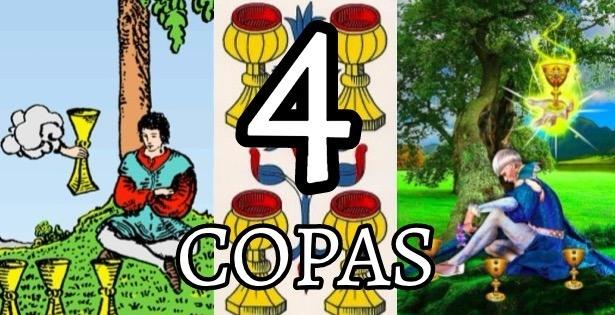 el significado de la carta del cuatro 4 de copas en el tarot