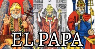 la carta de el papa o Hierofante y su significado en el tarot de marsella
