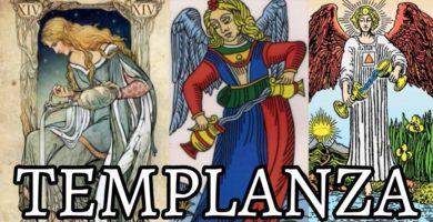 significado de la carta de la templanza en el tarot de marsella