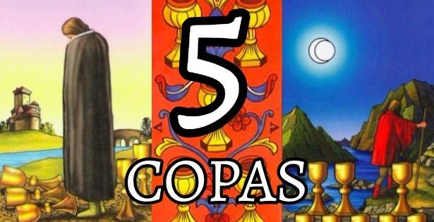 significado de la carta del cinco 5 de copas en el tarot