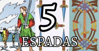 significado de la carta del cinco 5 de espadas en el tarot