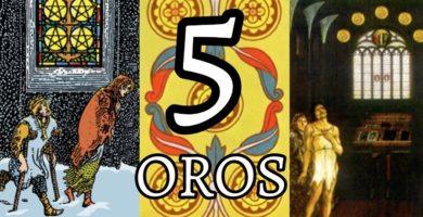significado de la carta del cinco 5 de oros en el tarot