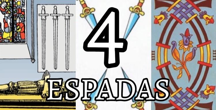 significado de la carta del cuatro 4 de espadas en el tarot