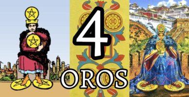 significado de la carta del cuatro 4 de oros en el tarot