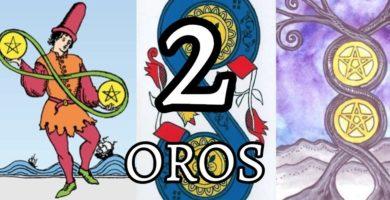 significado de la carta del dos 2 de oros en el tarot