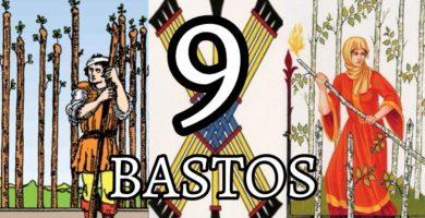 significado de la carta del nueve 9 de bastos en el tarot