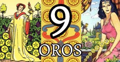 significado de la carta del nueve 9 de oros en el tarot