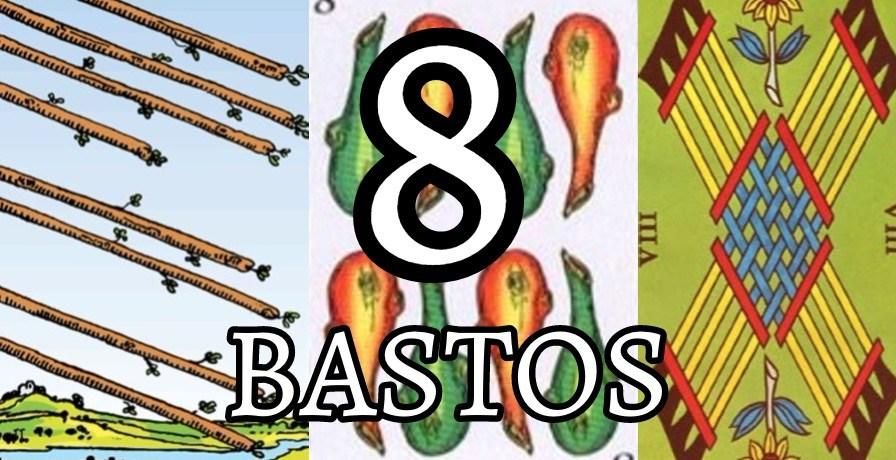 significado de la carta del ocho 8 de bastos en el tarot