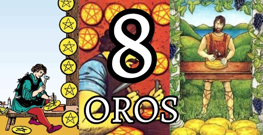 significado de la carta del ocho 8 de oros en el tarot