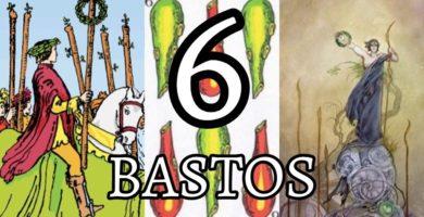 significado de la carta del seis 6 de bastos en el tarot