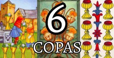 significado de la carta del seis 6 de copas en el tarot