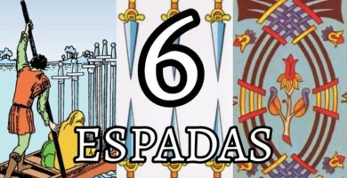 significado de la carta del seis 6 de espadas en el tarot