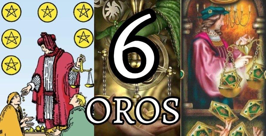 significado de la carta del seis 6 de oros en el tarot