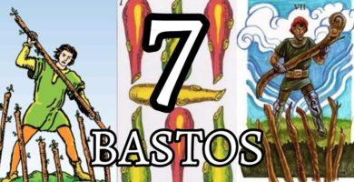 significado de la carta del siete 7 de bastos en el tarot