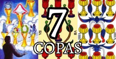 significado de la carta del siete 7 de copas en el tarot