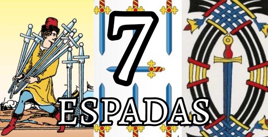 significado de la carta del siete 7 de espadas en el tarot