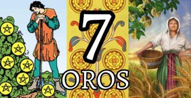 significado de la carta del siete 7 de oros en el tarot