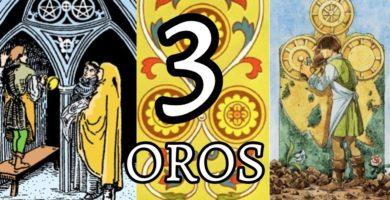 significado de la carta del tres 3 de oros en el tarot