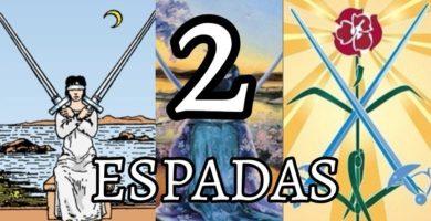significado de la carta dos 2 de espadas en el tarot