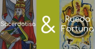 significado de la rueda de la fortuna y la sacerdotisa
